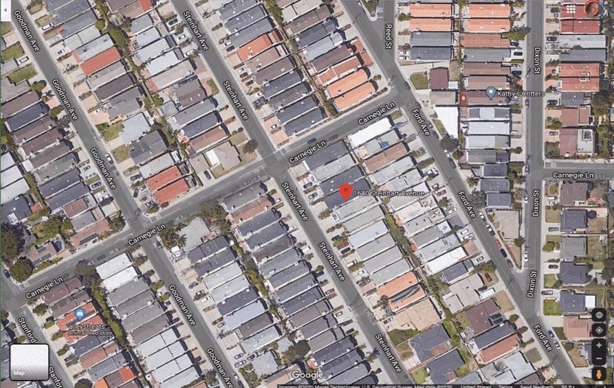 aerial photograph of dense Redondo Beach