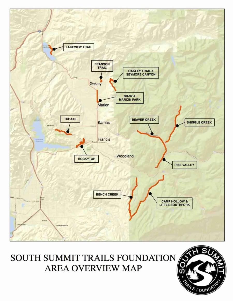 Oakley Utah Map.Maps South Summit Trails Foundation