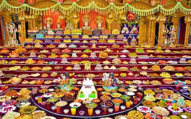 Diwali celebration in temples