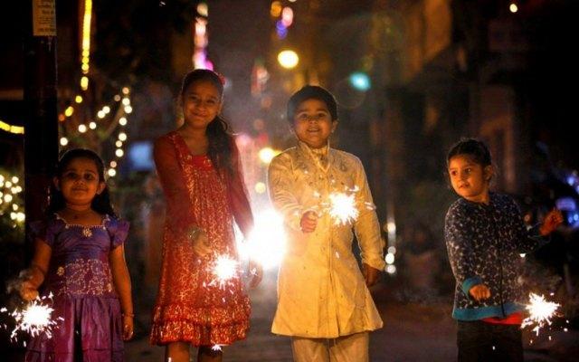 Children started celebrating Diwali