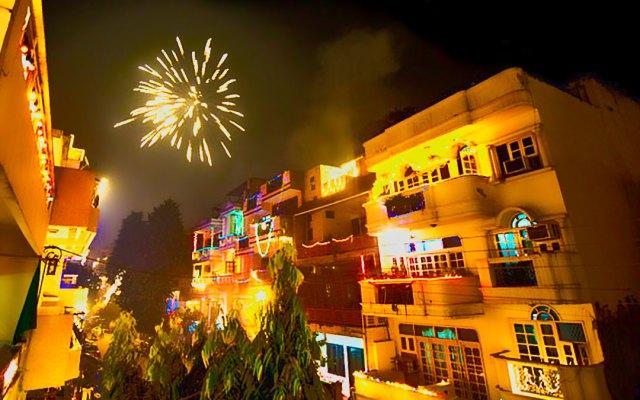 Diwali celebration in Indian streets