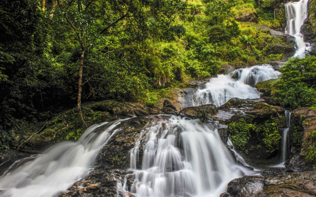 Amazing Iruppu waterfalls in Coorg/Madikeri, Karnataka, India.