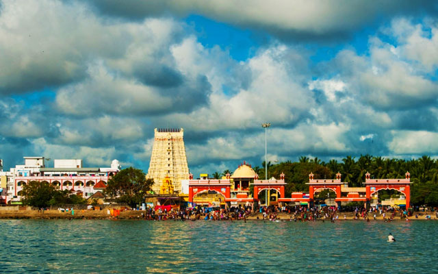 Ramanathaswamy temple, Rameswaram Beach view