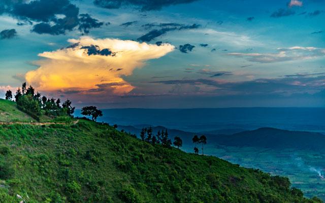 Sunset view from Nandi Hills