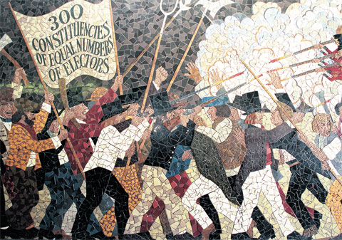 Opinion divided as Newport Chartist Mural faces demolition