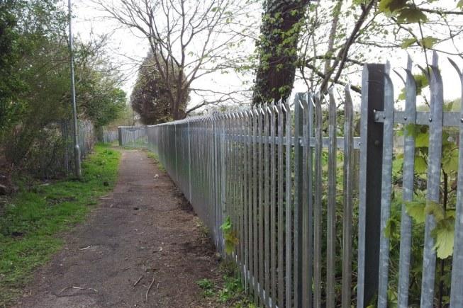 Steel palisade fence swansea fence
