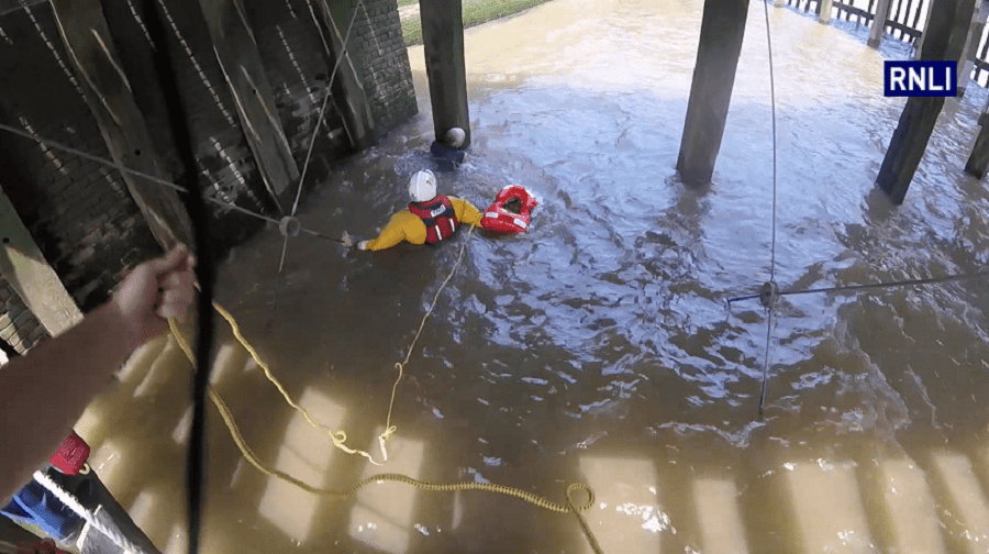 """Tower RNLI helmsman Steve King made the """"rare"""" decision to jump into the River Thames to save a man from drowning (RNLI/Tower Lifeboat Station)"""