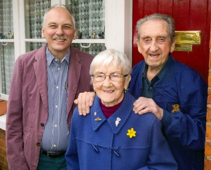Bernie Coot (far right) pictured with his wife Joyce and their son Paul
