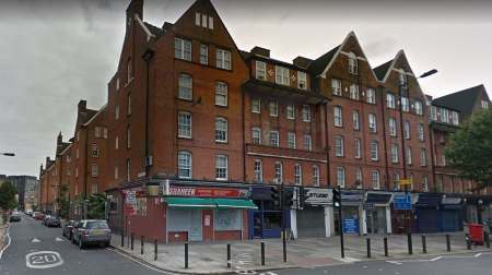 The majority of a third-floor flat was damaged after a fire broke out at Mawdley House, on the corner of Webber Road/Waterloo Road, SE1 (Google street view)