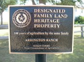 family heritage post - Arrington Ranch