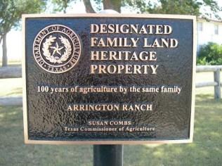 family heritage post - Arrington Ranch