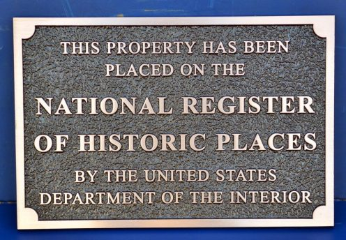 Rectangle Bronze National Register of Historic Places