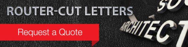 Router Cut Letters