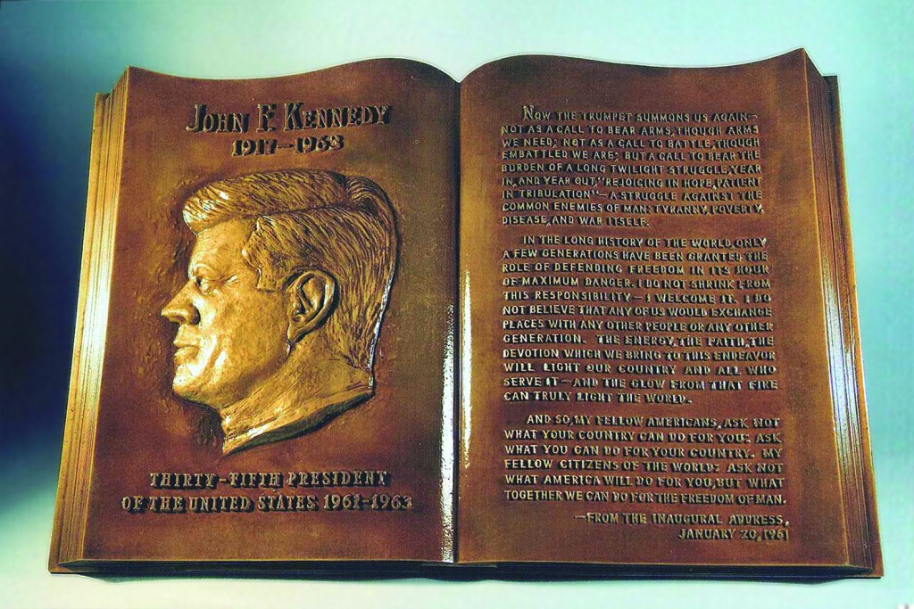 JFK Plaque After