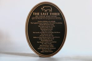 The last three dedication plaque
