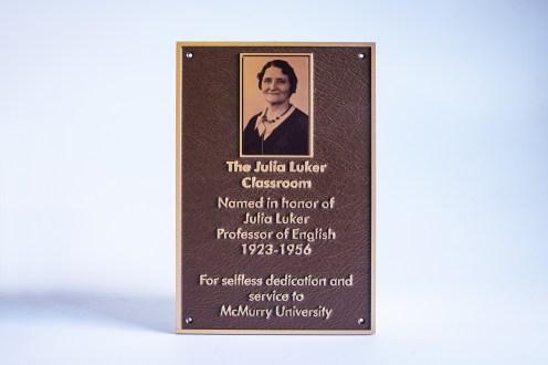 UV Print portrait plaque