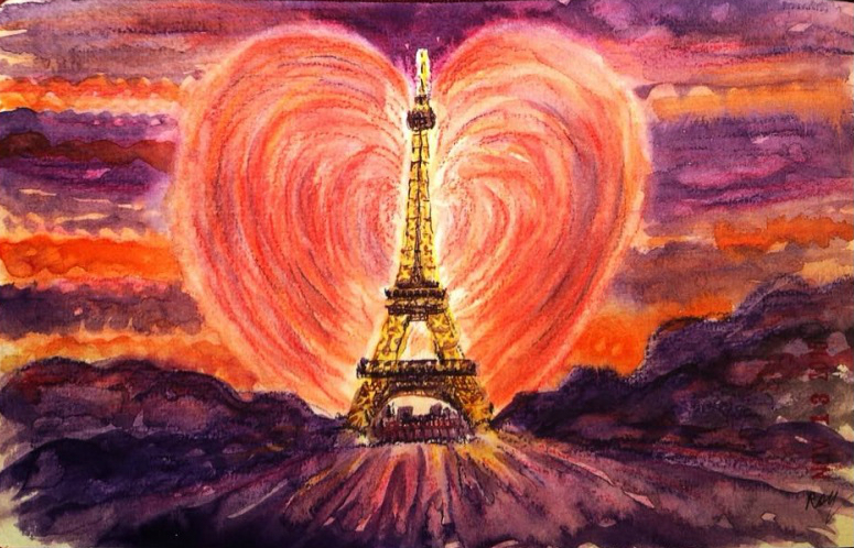 I need you to survive - Eiffel Tower image by artist Roy DeLeon