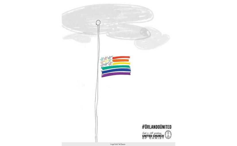 orlando united rainbow flag half staff
