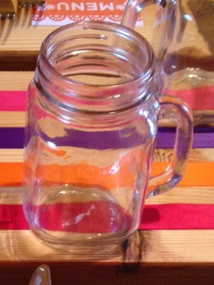 RETRO VINTAGE HANDLED JAM JAR MASONS GLASS 16oz/450ml