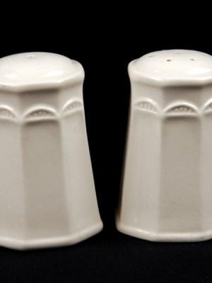 SALT & PEPPER White Crockery Hire