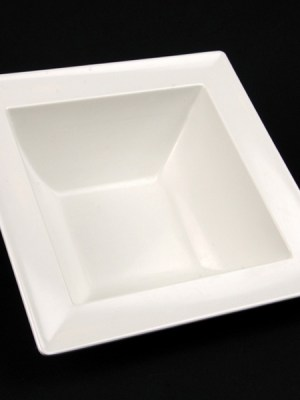 Square Bowl White China Hire 10""