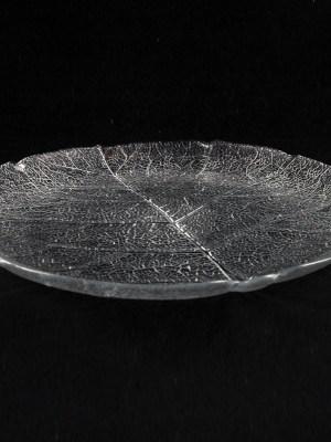 """Platter Glass 11 """" Round Aspen"""