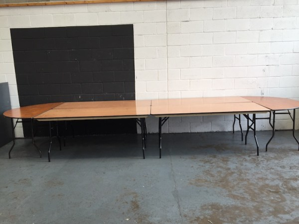 Oval Top Table Hire