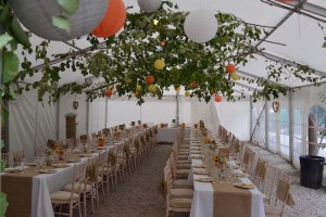 Marquee Trestle Table hire