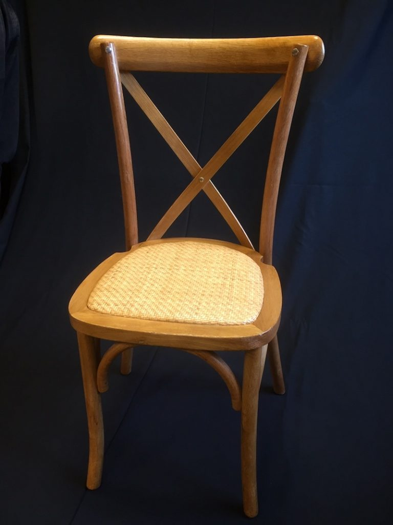 cross back chair hire 4