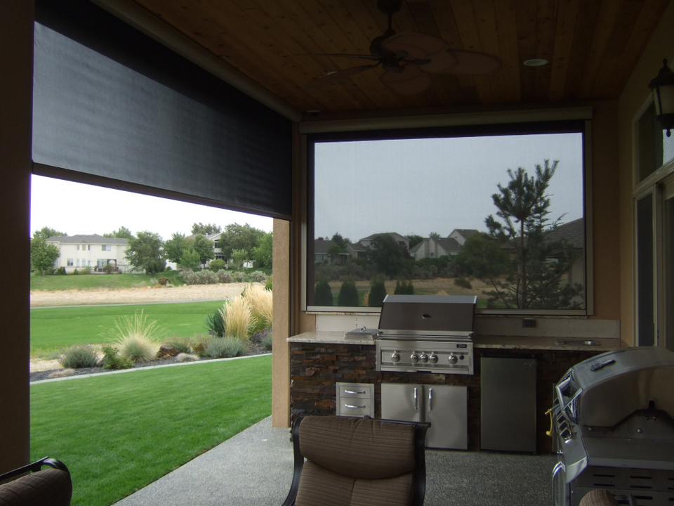 retractable patio sun shades screens for new homes in fairview lucas