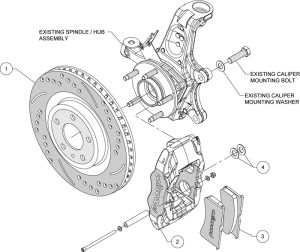 WILWOOD DISC BRAKE KIT,19972013 CORVETTE,C5,C6,Z06