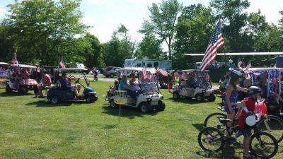 Decorated Golf Carts