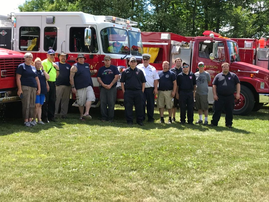 Firefighters at Camp Event