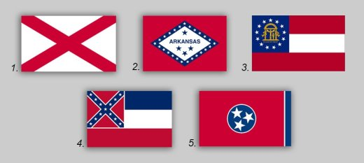 Confederate Flags Used In State Flags