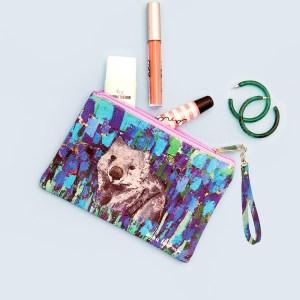 Wombat fabric purse