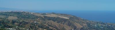 Panorama del Golfo di Squillace visto da Gasperina