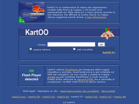 Screenshot di kartoo.com
