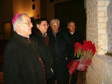 Vescovo Antonio Ciliberti, Pino Gullà, Bernardo Marascio e Maimone