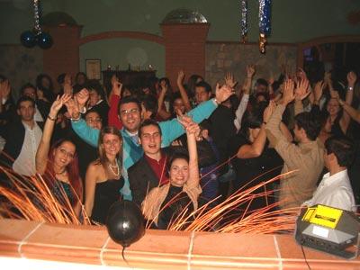 Foto di gruppo al ristorante Il Delfino.