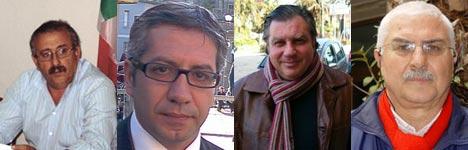 Luciano Battaglia, Domenico Calabretta, Michele Drosi e Domenico La Torre