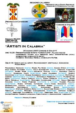 Artisti in Calabria