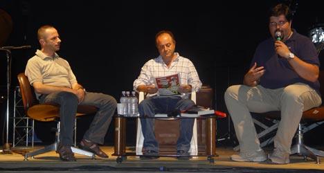 Nella foto da sinistra Giuseppe Baldessarro, Nicola Gratteri, Luca Melo