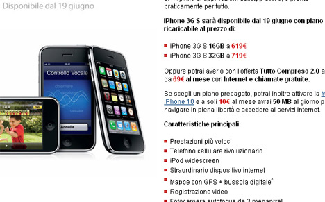 iPhone 3gs - Offerta TIM