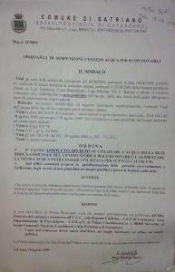 ordinanza satriano 18 agosto 2009