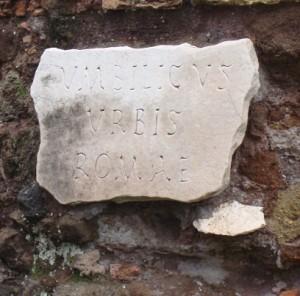 Foto iscrizione marmorea Umbilicus