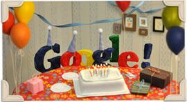 Doodle per il 13° compleanno di Google