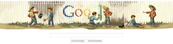 Google Doodle - Mark Twain
