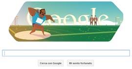 Google Doodle - Londra 2012 - Lancio del Peso