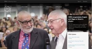 Home page del Cern che celebra Higgs e Englert