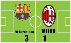 Barcellona - Milan 3-1
